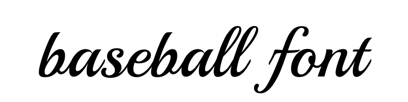 baseball Font generator, free text conversion online, no watermark, works for both Windows and Mac.