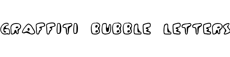 graffiti bubble letters Font generator, free text conversion online, no watermark, works for both Windows and Mac.