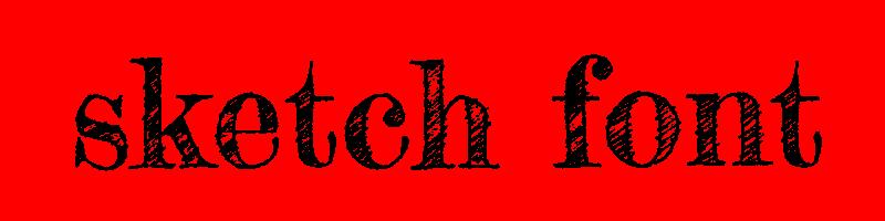 線上素描字體轉換器,快速將英文字轉換成英文素描字體 ,系統支援WIN+MAC蘋果系統
