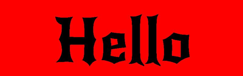 英文刺青字體