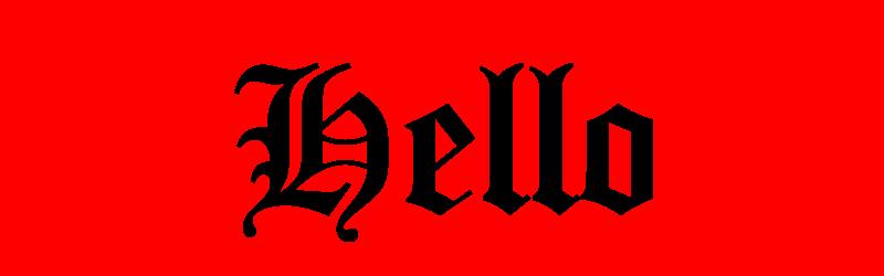 英文哥德字體