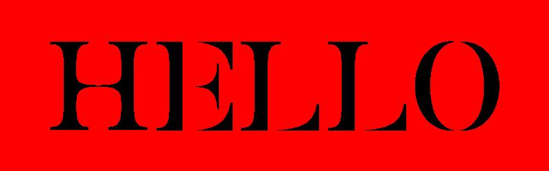 英文設計字體